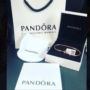 (Authentic) pink gold pandora bracelet